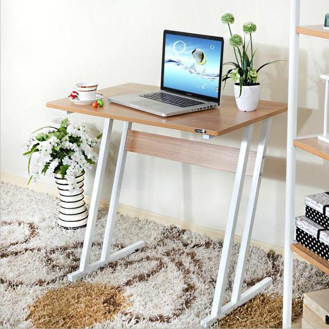 Simples mesa tablestudent laptop mesa do computador estante casa preguiçoso moderna mesa de aço mesa de madeira