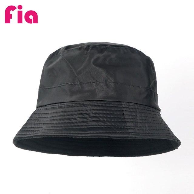 Panama Rain Hat Waterproof Bucket Hats Foldable Wide Brim Cap for Men and  Women ZZ4026 d803476fe47