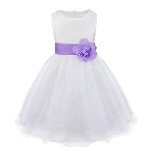 Image 2 - מותג חדש 9 צבעי TiaoBug באורך הברך פורמליות שמלות ילדה פרח לחתונה נסיכת ילדה תחרות ראשית הקודש בנות 2 14Y