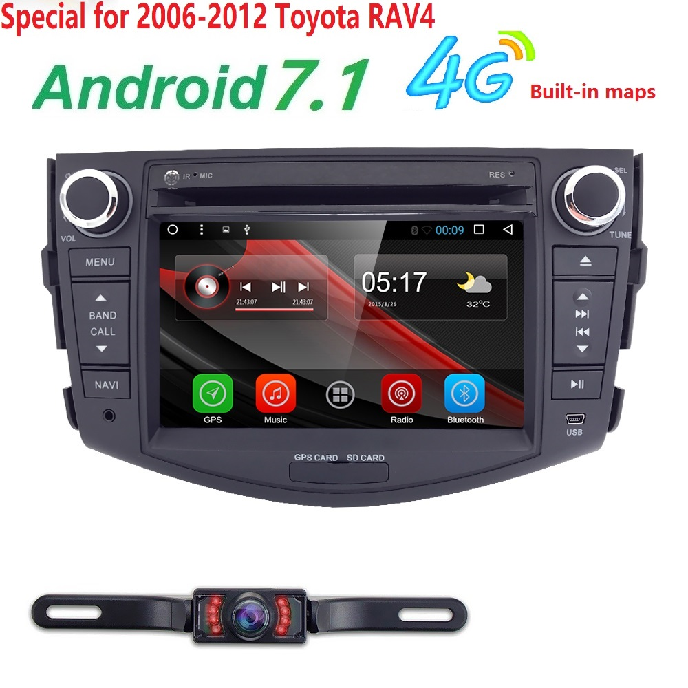 Autoradio 2 din Android 7.1 Car DVD Player For Toyota RAV 4 RAV4 2006 2007 2008 2009 2010 2011 2012 Head unit Stereo 4G Wifi SWC westone um pro20 clear наушники