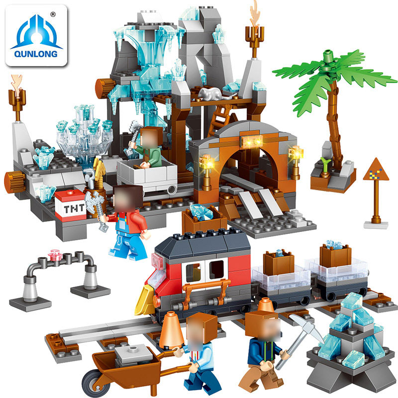 718pcs Qunlong Minecrafted Classic Tree House My world Compatible Legoed Figures Building Blocks Bricks Toys For Children цена