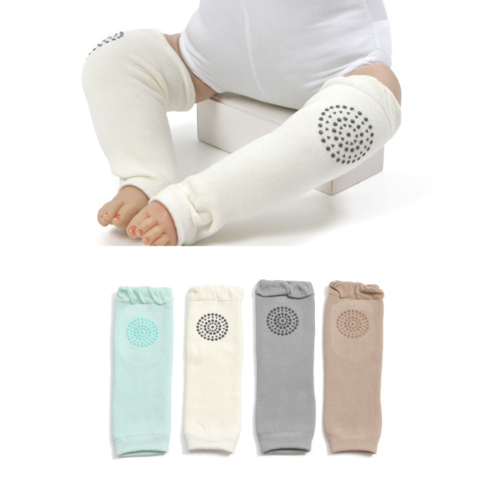 1 Pair Soft Cotton Baby Leg Warmer Boy Anti-Slip Kid Knee Pad Warm Towel Baby Girl Sock Infant Safety Crawling Elbow Protector