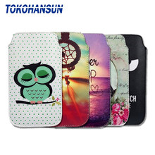 TOKOHANSUN Case Cover For Panasonic Eluga Ray Max Ray 530 500 Pulse I5 I4 I2 Activ PU Leather Pouch Universal Phone Bag(China)