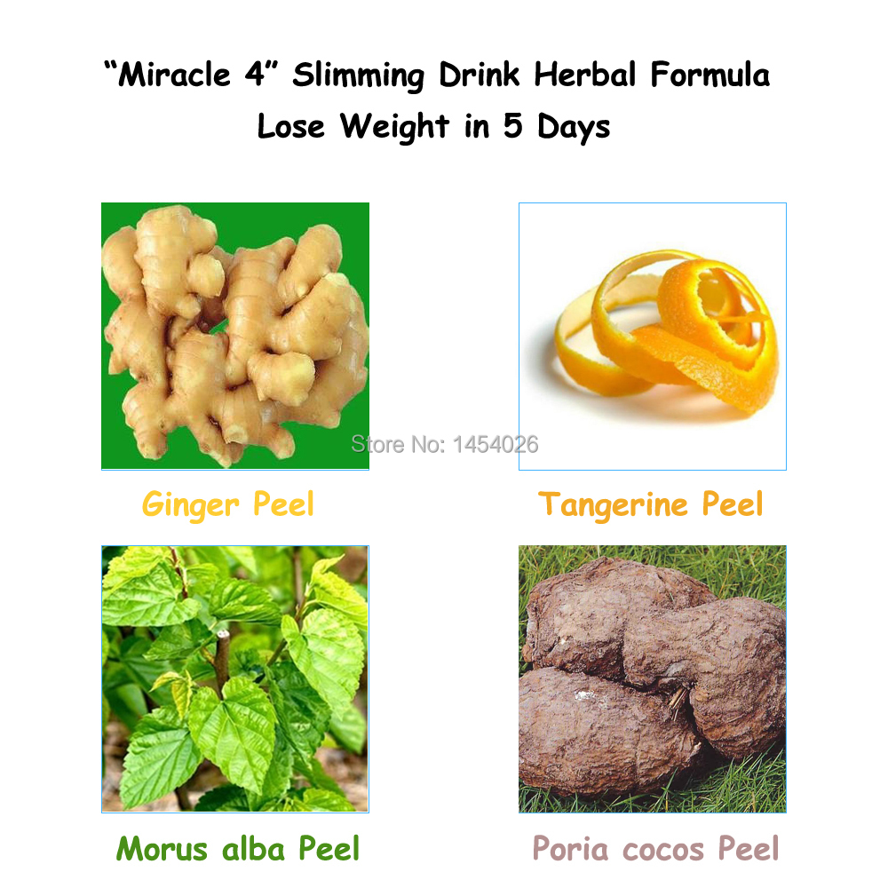 Miracle 4 Slimming Drink Herbal Formula from Traditional ...