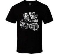 Cotton Men T Shirt Casual Man Tees Mens Tops Eeeny Meeny Miny Moe Neegan The Walking