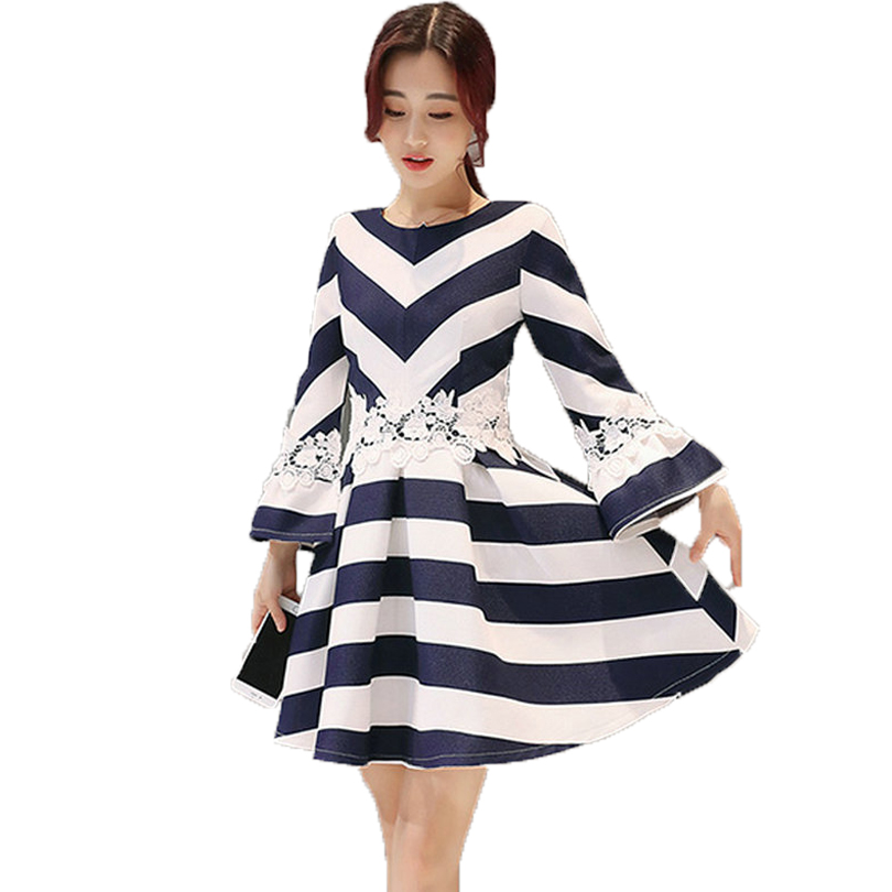 Online Buy Wholesale blue white striped dress from China blue ...