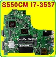 Original S56C S56CM K56C K56CM S550C S550CM motherboard For Asus K56CM REV2.0 Mainboard I7-3537U Processor GT635 2G 100% Tested