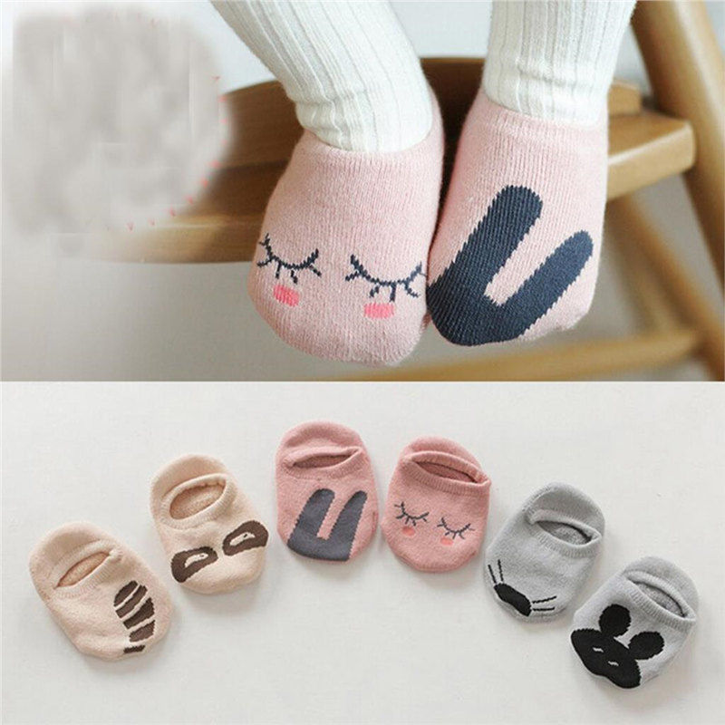 Spring Summer Kids Unisex Baby Socks Short Cotton Sock Boy Girl Cute Pattern Toddler Animal Print Floor Socks Free Shipping