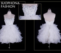 Real Picture Custom Made White Short Cocktail Dresses 2017 Robe De Cocktail Ever Pretty Cheap Coctail