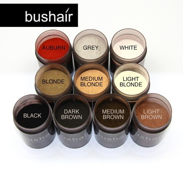 Bushair Строительные Волосы Волокна, натуральные Растительные 10 Цветов Решения Выпадения Волос, ни одно Животное не Ингредиент, 25 г 0.88 унц. Полный Волосы Мгновенно