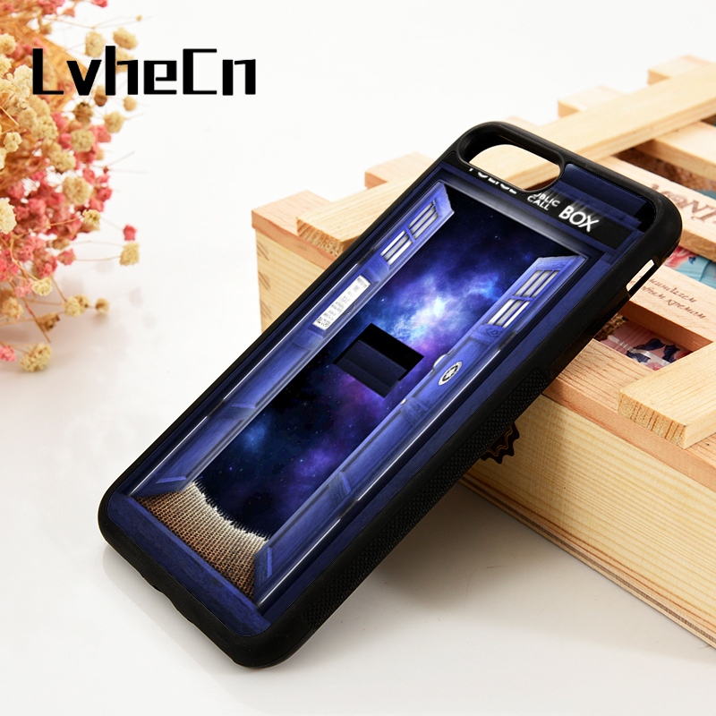 Fitted Cases Considerate Lvhecn 5 5s Se 6 6s Phone Cover Cases For Iphone 7 8 Plus X Xs Max Xr Soft Silicone Rubber Doctor Who Tardis Door Open To Space Phone Bags & Cases