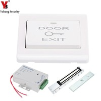YobangSecurity 180KG Electric Magnetic Lock + Door Switch + DC12V Power Supply for Door Entry Access Control System
