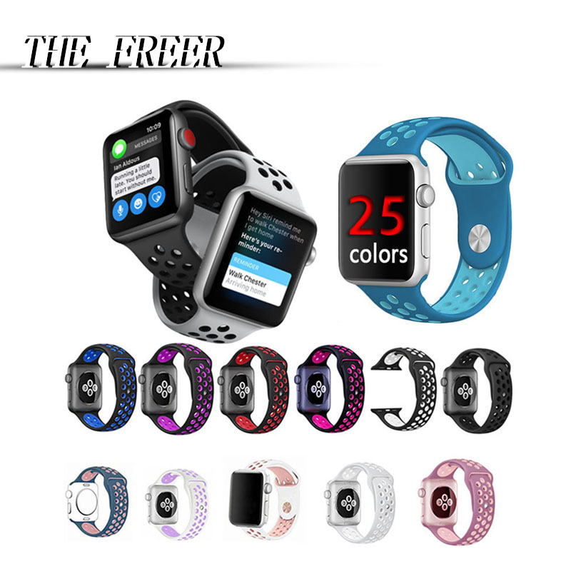 Men/Women soft sport Silicone brand belt strap for apple watch 42mm 38mm bracelet wrist band watches watchband For iwatch Series jansin 22mm watchband for garmin fenix 5 easy fit silicone replacement band sports silicone wristband for forerunner 935 gps