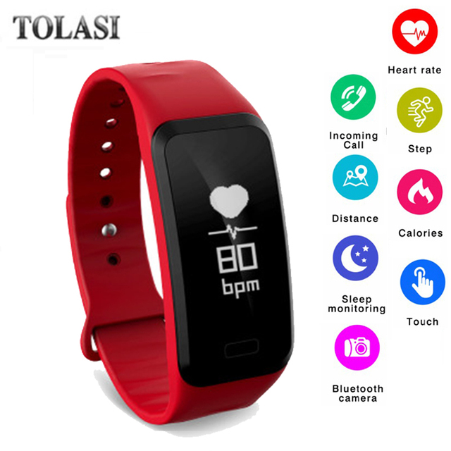 2018 Men Women Sport Smart Bracelet Watch Bluetooth Clock Heart Rate Blood Press