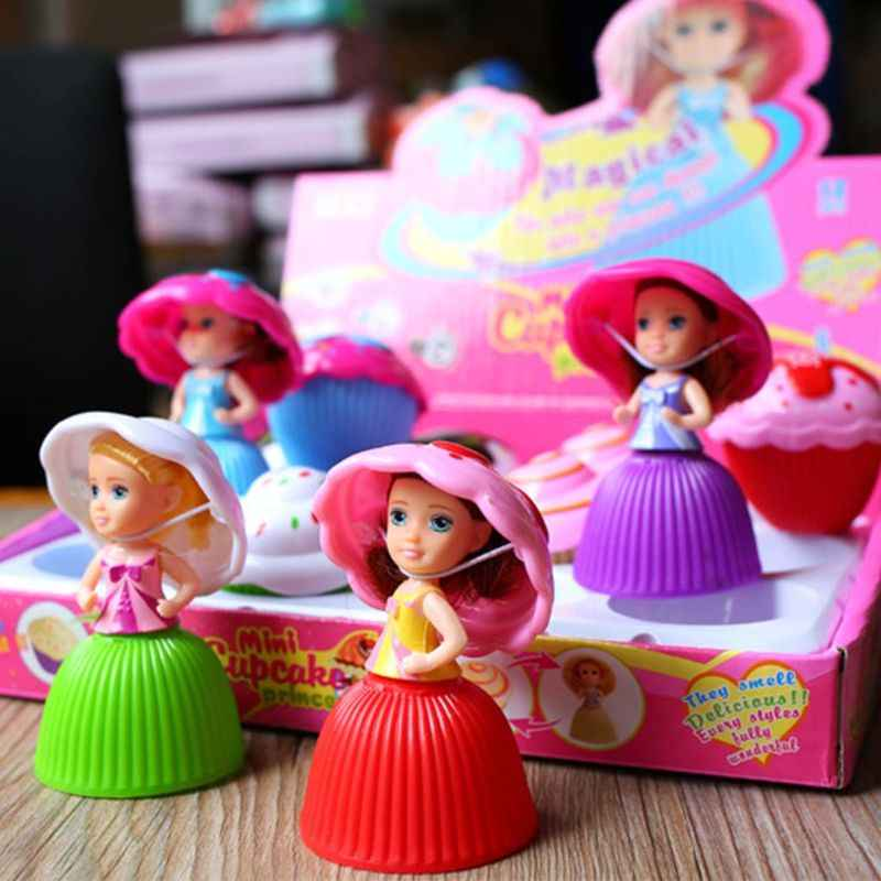 OOTDTY 1PC Mini Cute Cake Doll Toy Cupcake Princess Children Kids Transformed Scented Girls Funny Games Surprise Birthday Gifts