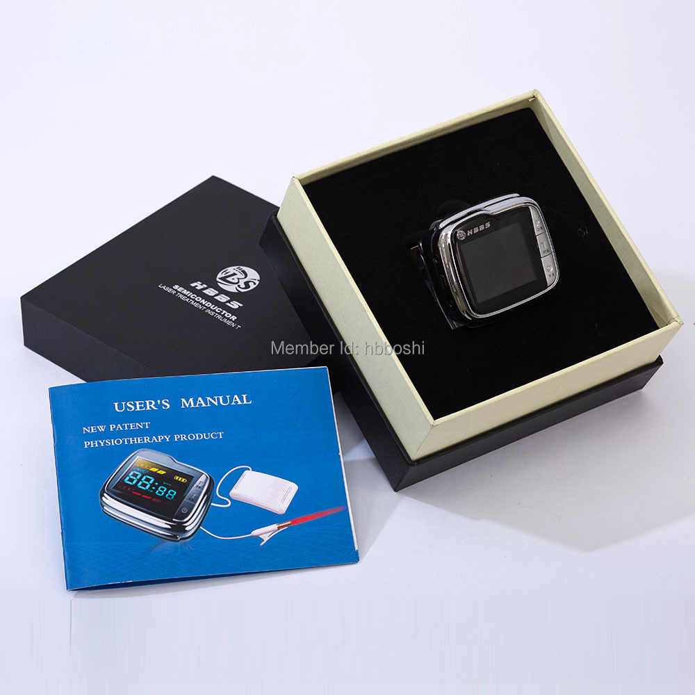latest digital high blood pressure laser therapy wrist watch for elders