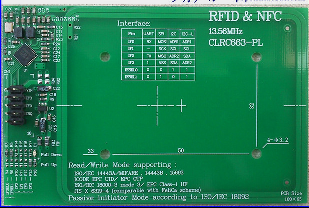 Free Shipping   CLRC663 Module RFID/NFC Read And Write Module Development Board Distance