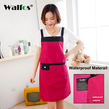 WALFOS 2019 New Cooking Baking Aprons Catering Home House Kitchen Apron with 2 Pockets for Chefs