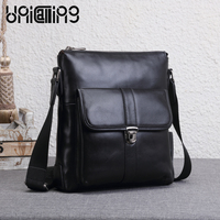 Fashion Cow Leather Messenger Bag Men Leather Top Grade Small Shoulder Bags Tidal Current Luxury Brand