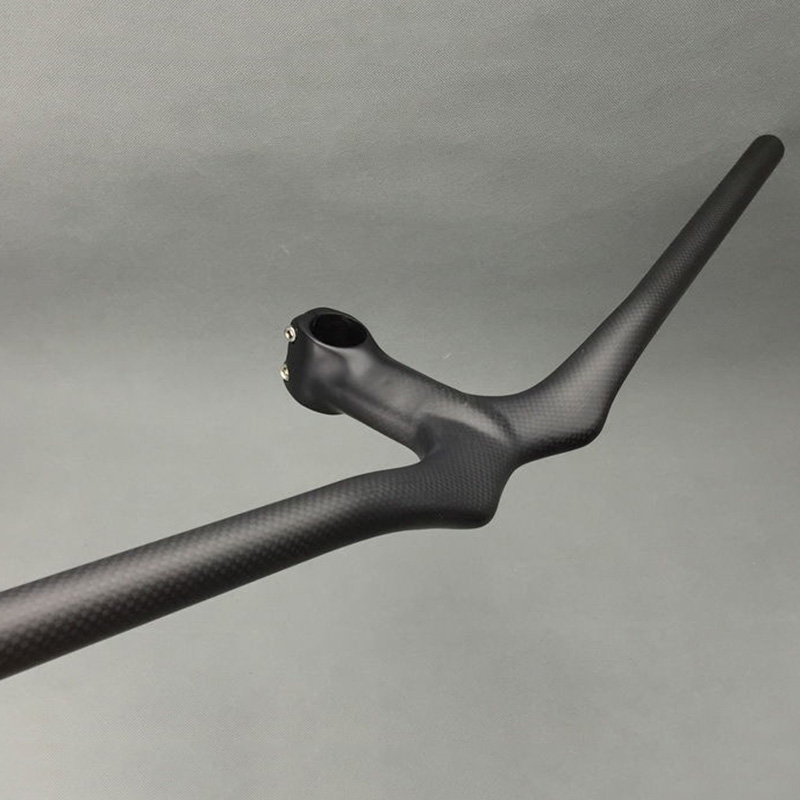 Matte 3K <font><b>Carbon</b></font> Mountain Bicycle <font><b>rise</b></font> <font><b>Handlebar</b></font> Integrated Bar Stem <font><b>MTB</b></font> bike <font><b>Handlebar</b></font> image