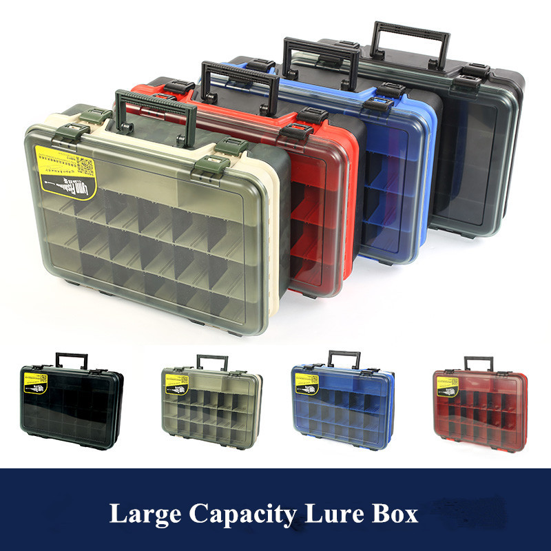 High Quality Multi-Purpose Tool Box Lure Bait Case Fishing Accessories Tackle Storage Box Container portable 2 layers many compartments visible pvc fishing lure bait hooks fish tackle box accessory storage box case fishing tool