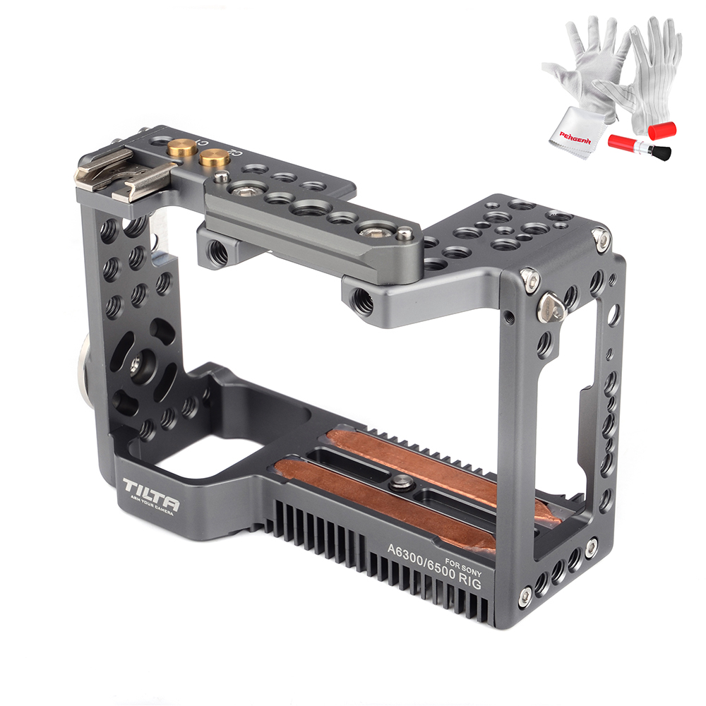 Tilta Camera Cage Aluminum-Alloy for Sony A6000 A6300 A6500 Cameras new version smallrig cage for sony a6300 a6000 a6500 ilce 6000 ilce 6300 ilce a6500 sony nex 7 cage 1661