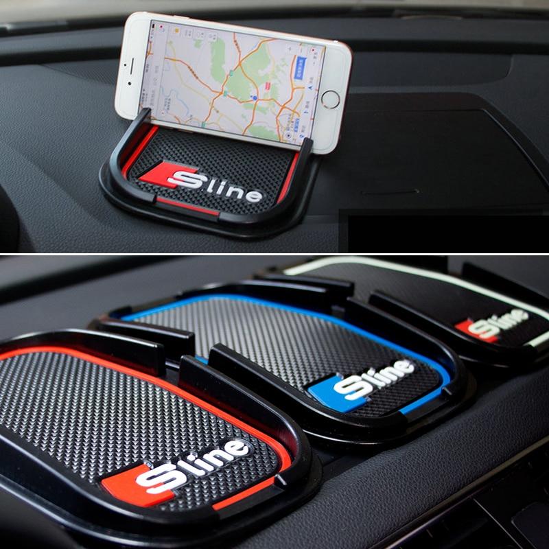 Car rubber phone mat GPS support Car Accessories For Audi A1 A3 A5 A7 A6 A8 Q3 Q5 Q7 S3 S7 S5 RS3 Sline 2000-2015 2016 стоимость