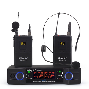 Image 1 - IU 302A Professional UHF 600 700MHz Dual Channel(Single frequency) 2Bodypack+2Lapel+2Headset Wireless Microphone Mic System
