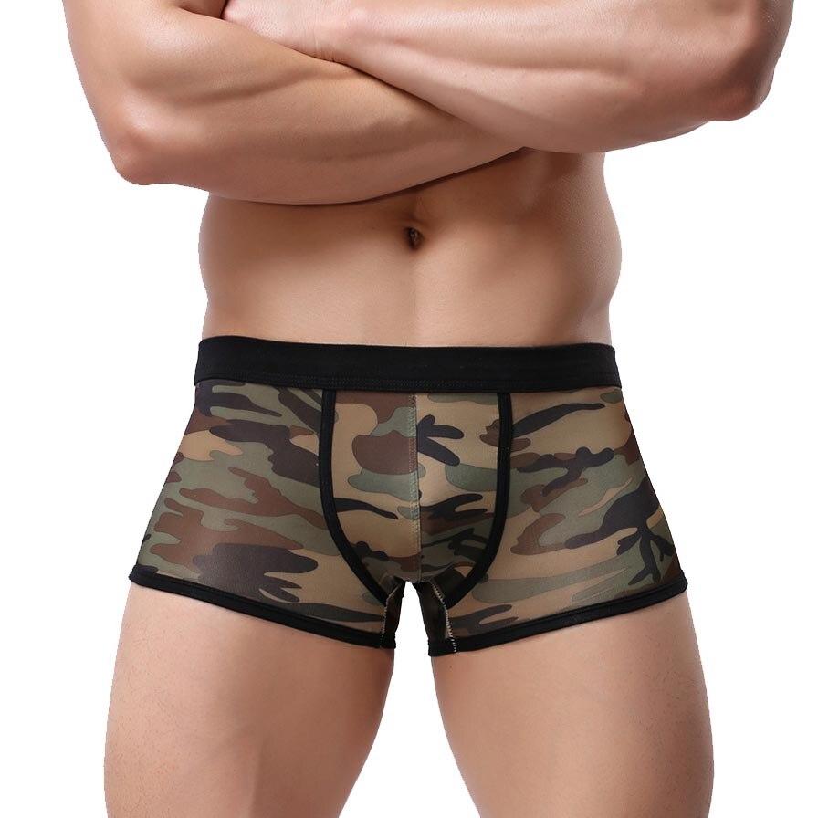 Camouflage Underwear Men Boxer Ropa Interior Hombre Sexy Underwear Cuecas Mens Boxers Shorts Underpants Panties Brand Slip Homme