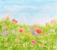 Digital personalizado Primavera verde photobackground flores natural scenic estúdio backdrops, fundo de vinil pano de fundo do bebê crianças