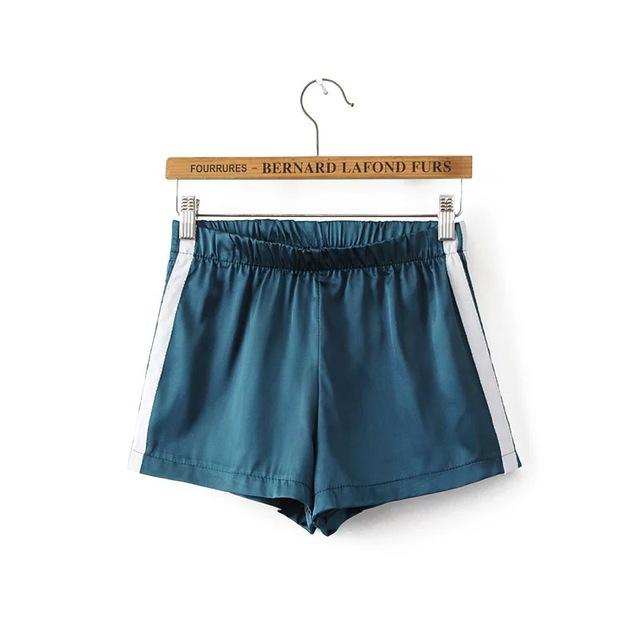 Uwback summer shorts mujeres 2017 nueva marca negro/blanco pantalones cortos de mujer de satén más el tamaño recto de rayas mujeres short shorts tb1372
