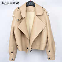 Women's Real Sheepskin Leather Jackets Top Quality Genuine Leather Coat Fashion Jackets Lady New Arrival S7547