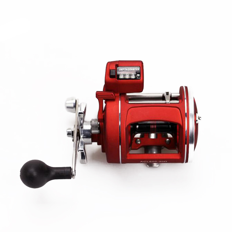 2016 NEW Red Right Left Hand Bait Casting Fishing Reel with counter 12BB High-strength body cast drum wheel new 12bb left right handle drum saltwater fishing reel baitcasting saltwater sea fishing reels bait casting cast drum wheel