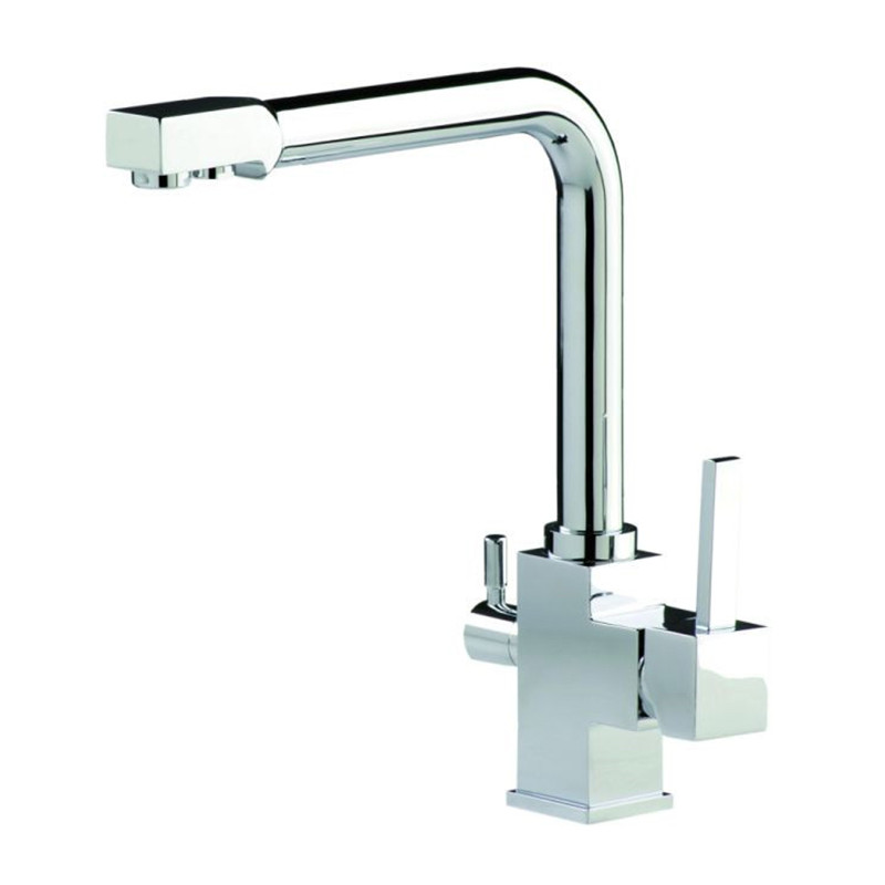 New Wholesale Factory Price Swivel Osmosis Reverse Tri-flow Kitchen Sink Mixer Tap 3 Way Drinking Purified Water Kitchen Faucet stainless steel manual push self turning stirrer egg beater whisk mixer kitchen wholesale price