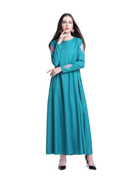 Women Pattern Abaya Casual Muslim Print Gown Dress Arab Robes Islamic Maxi Long Dresses Dubai Instant Hijab Indian Vestido