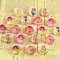 2017Free Shipping Wholesale lots 100Pcs Girl child's gifts lovely cute Princess Heart rings fashion Jewelry Jewellery random