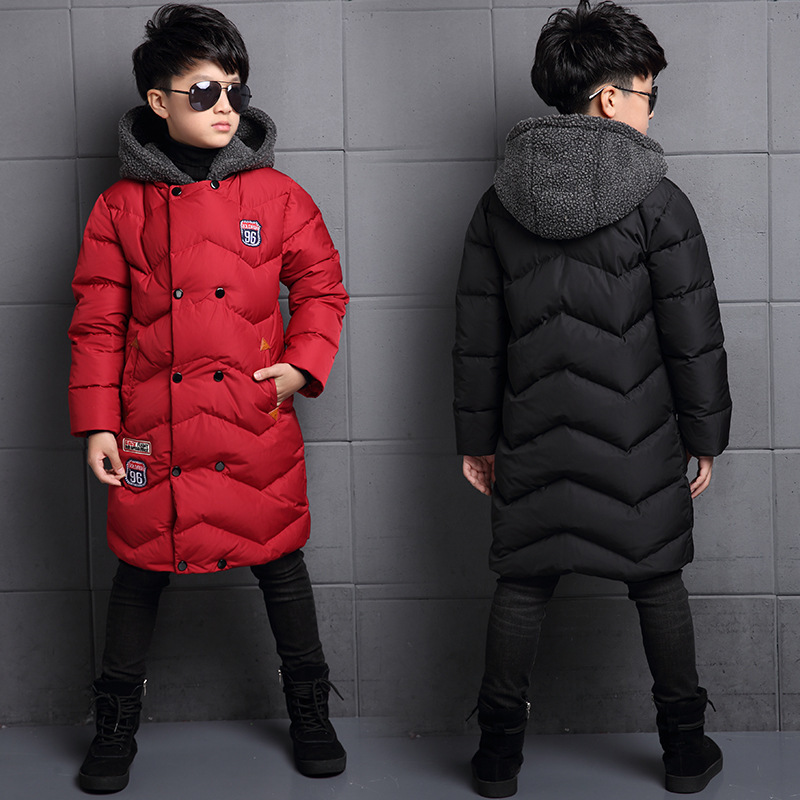 New Kids Clothing Winter Boys Hooded Long Parkas Big Boys Warm Cotton Padded Coat Thickening Outerwear Childrens Winter JacketsNew Kids Clothing Winter Boys Hooded Long Parkas Big Boys Warm Cotton Padded Coat Thickening Outerwear Childrens Winter Jackets
