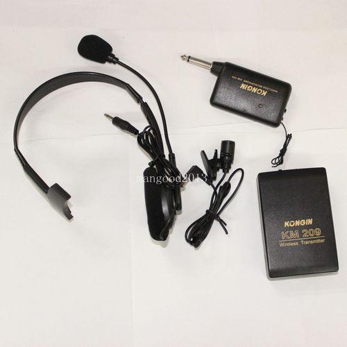 Нагрудные Гарнитура Студия Беспроводной Микрофон Микрофон FM Передатчик Приемник Системы
