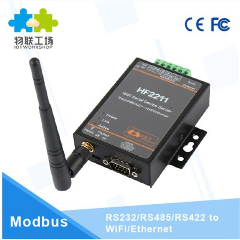 Serial To Wifi Ethernet Converter Rs232 Rs485 Server Wireless Network Module Support Watchdog Modbus Rtu To Tcp Usr-w610 Q171 50% OFF Wireless Module