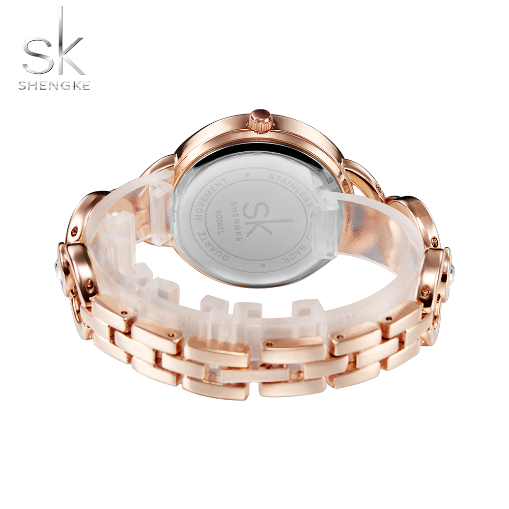 Shengke Luxury Women Watch Famous Brands Gold Fashion Creative Bracelet Watches Ladies Women Wrist Watches Relogio Femininos SK 5