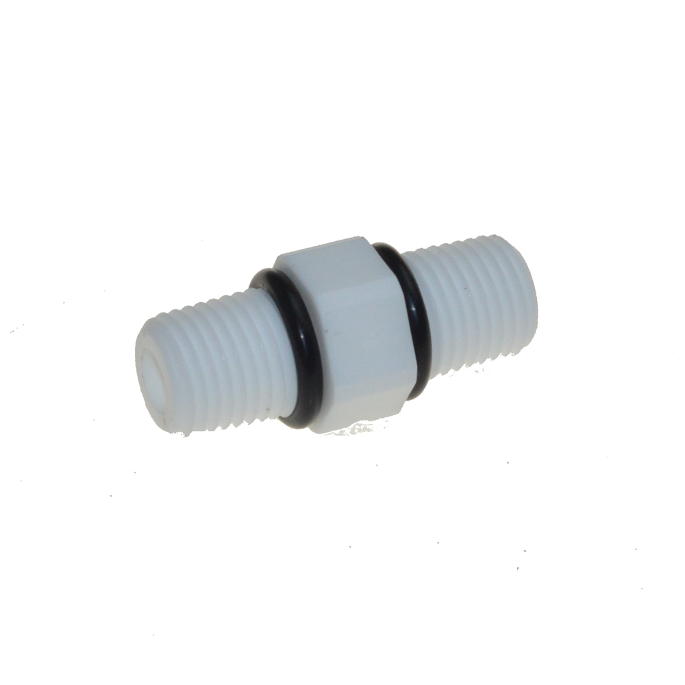 Plastic 1/4 BSP Male thread nipple Joint  Connection  Fittings with sealing washer high quality