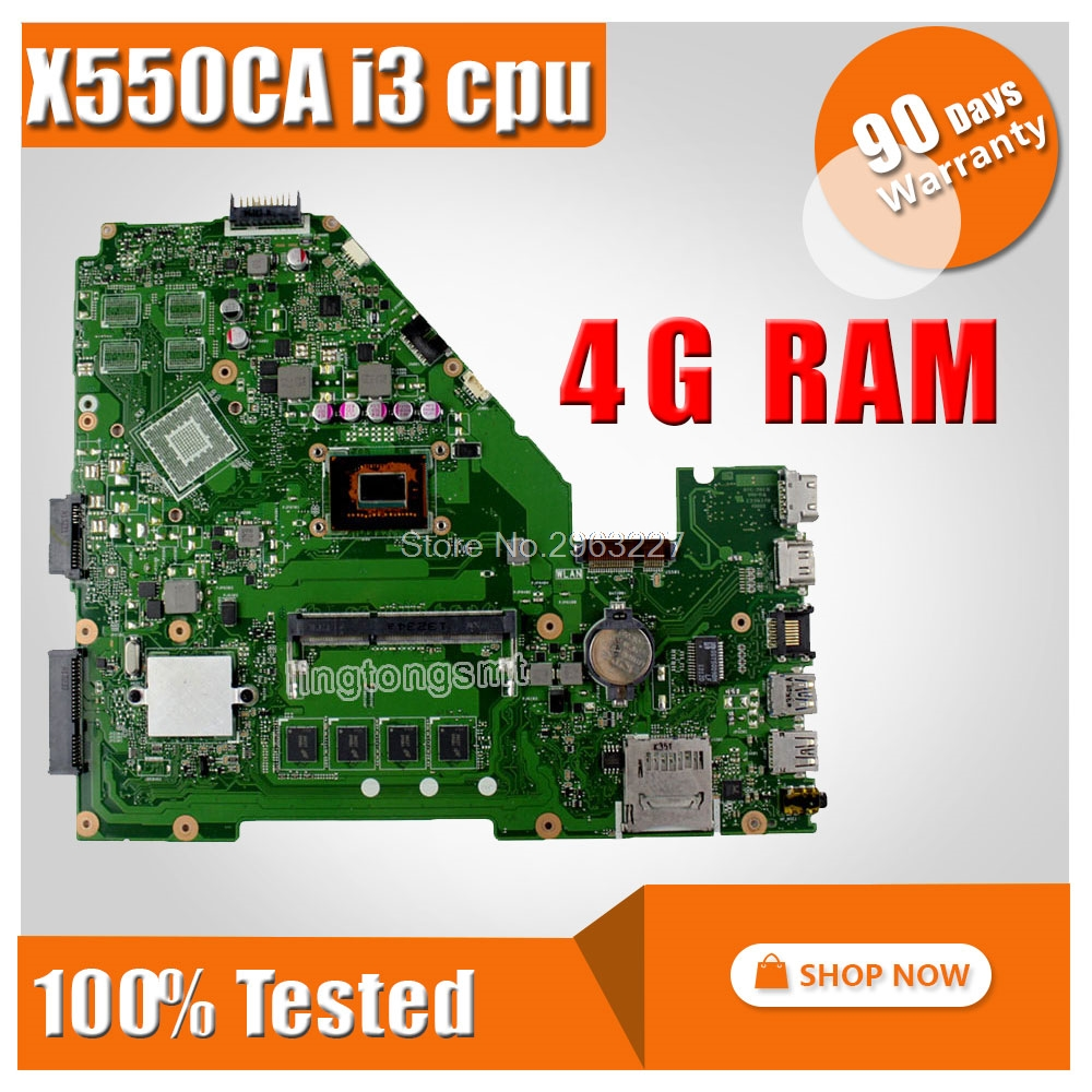 X550CA Motherboard REV:2.0 I3 -3217U For ASUS A550C X550CC R510C Y581C Laptop Motherboard X550CA Mainboard X550CA Motherboard