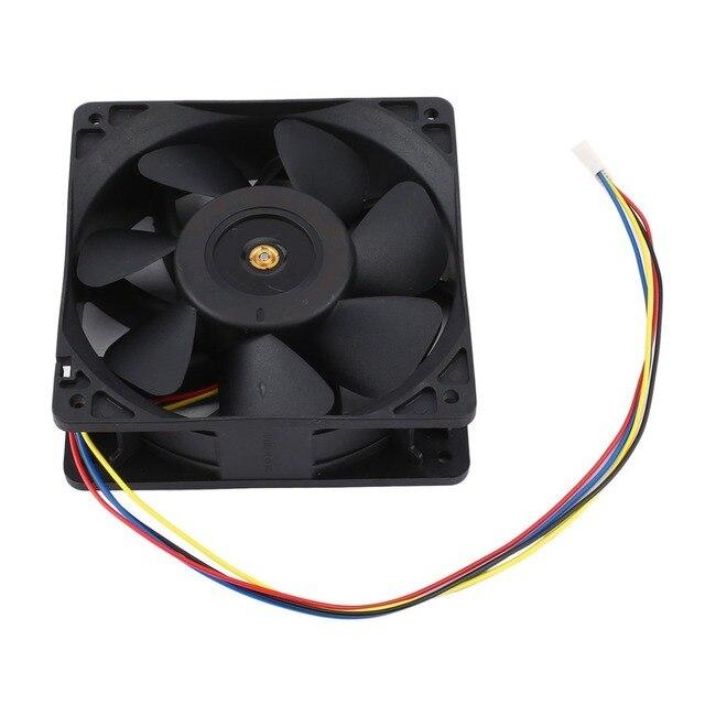 7500 об/мин DC12V 5.0A Майнер охлаждающий вентилятор для Antminer Bitmain S7 S9 4-контактный разъем бесщеточный Замена охладитель низкая Шум