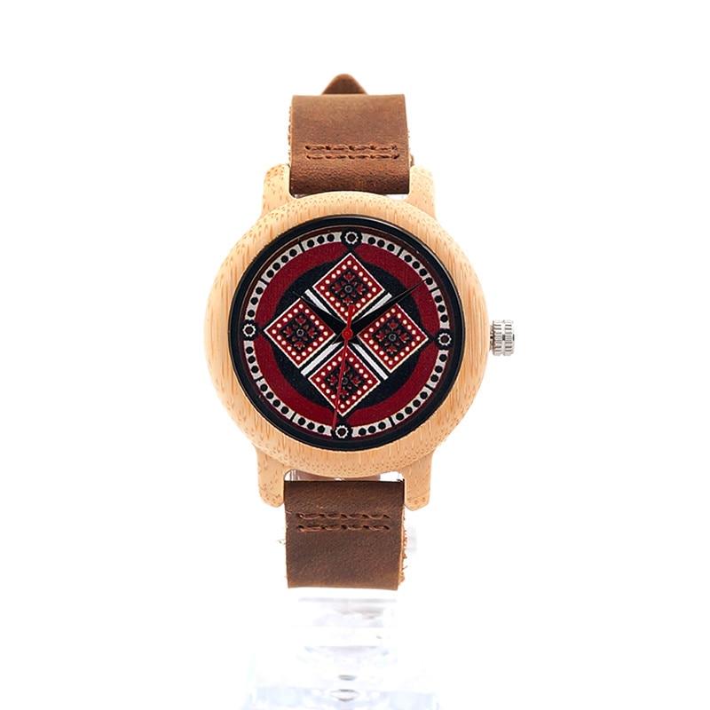 2017 New Brand BOBO BIRD Women Watches 37mm Bamboo Pattern Ladies Quartz Wristwatch as Gifts relogio