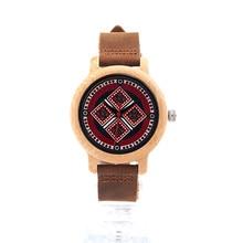 2017 nueva marca bobo bird mujeres relojes 37mm de bambú patrón de las señoras de cuarzo reloj de pulsera como regalo relogio feminino