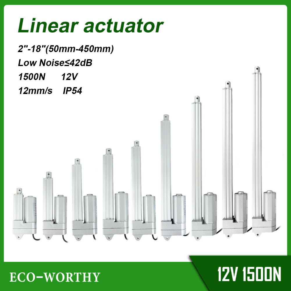New 1500N Linear Actuator 50mm-450mm 12mm/s IP54 Mute Design WaterproofNew 1500N Linear Actuator 50mm-450mm 12mm/s IP54 Mute Design Waterproof