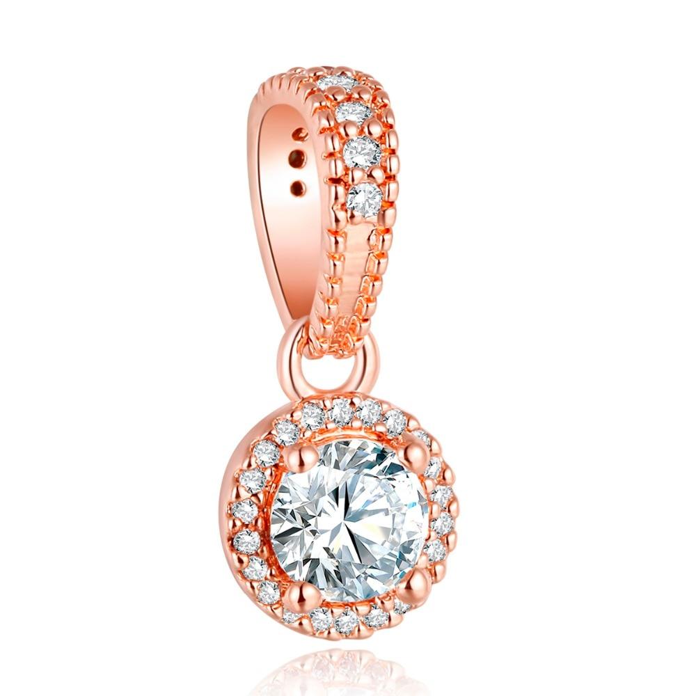 Pandulaso Classic Elegance Pendant Rose Gold Beads