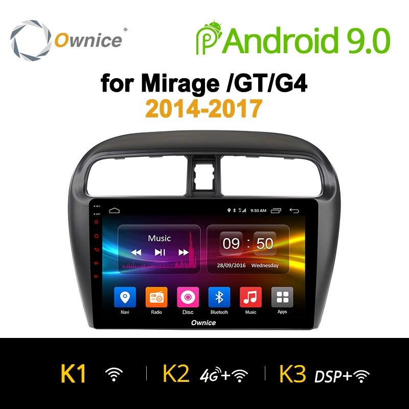 Ownice K1 K2 K3 9 polegada 8 Núcleo Android 9.0 rádio Do Carro para Mitsubishi Mirage GT G4 2014 2017 GPS navegação 4G LTE carplay DSP