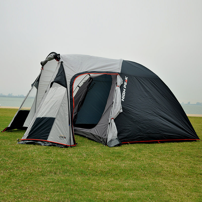 3-4 Person 2 Rooms Beach Tent Durable Family Large Camping Party Tente Outdoor Windproof Waterproof Double Layer Tienda ZP44 mobi garden outdoor camping tent 4 seasons double layer aluminum tent two rooms big camping tent super large 3 4 persons tent