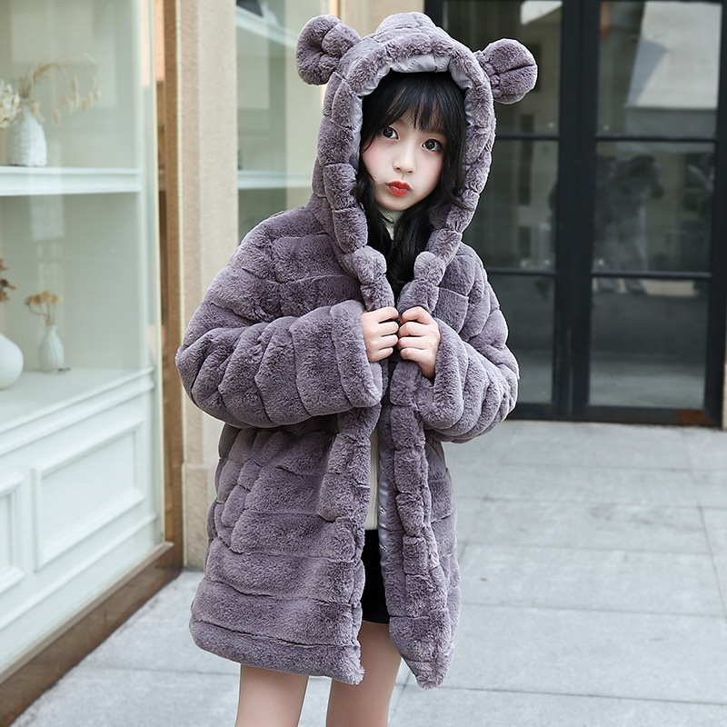 JKP girls cotton 2018 Korean version of the thick coat in the imitation fur thick girls fur coat long section jacket FPC-168 2017 winter down jacket male korean version of self cultivation hooded thick in the long fashion trend of youth style downjacket